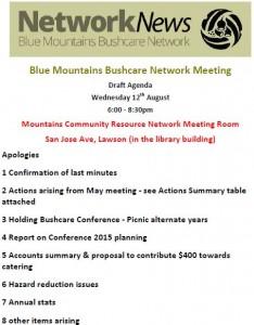 Agenda August 2015